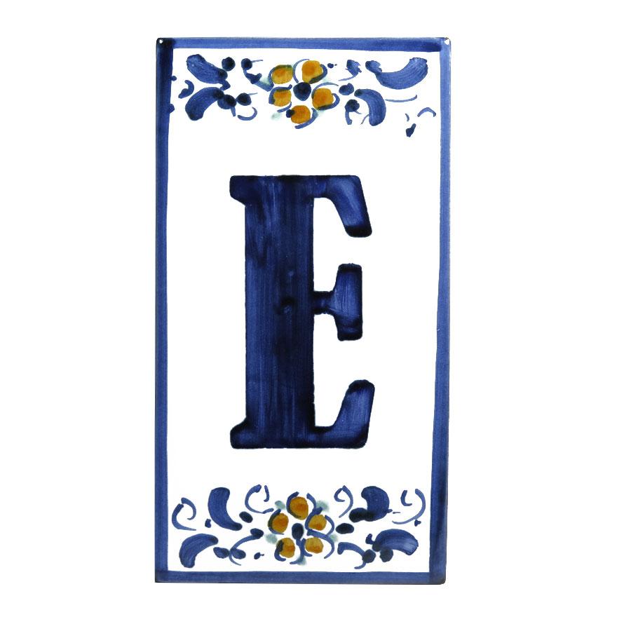 Civico Lettera E