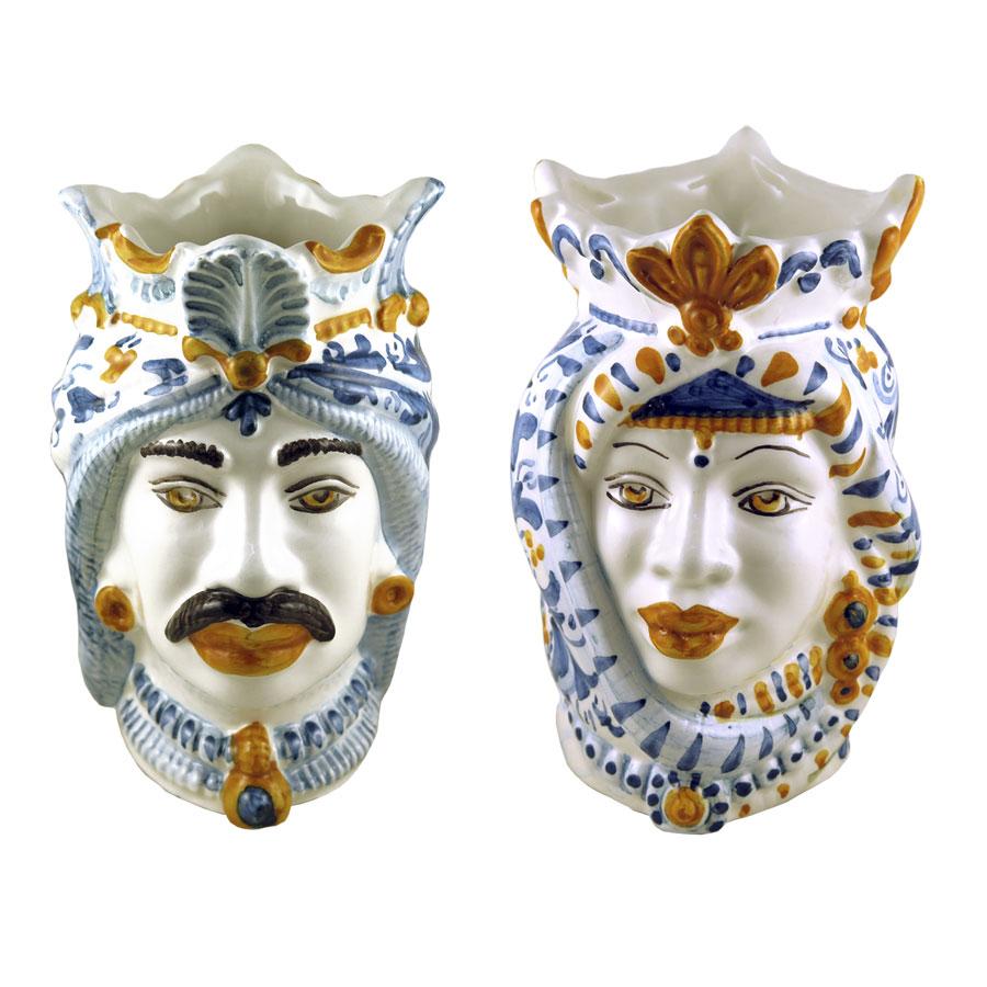 coppia-teste-moro-ceramica-caltagirone
